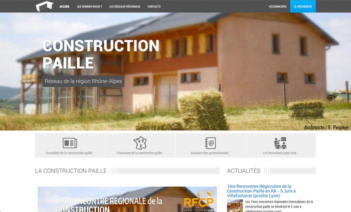 Page accueil site Réseau de la région Rhône-Alpes