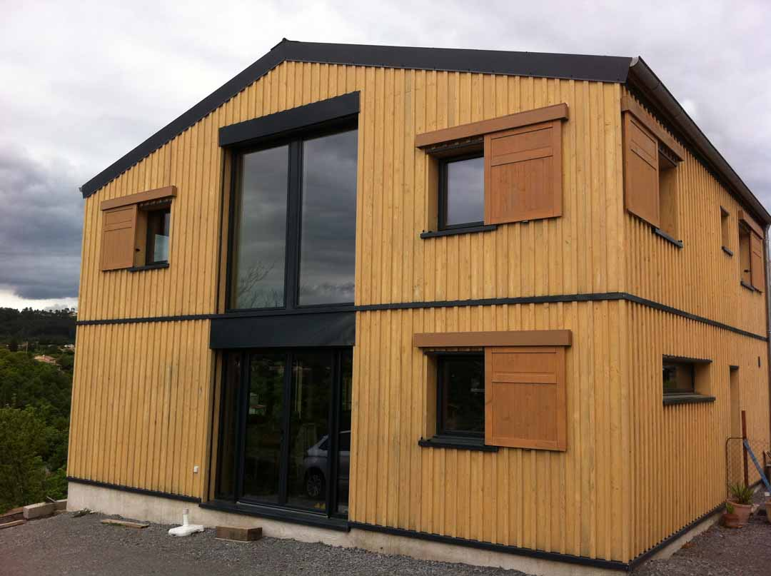 saint tienne de fontbellon maison ossature bois de pierres et de bois. Black Bedroom Furniture Sets. Home Design Ideas