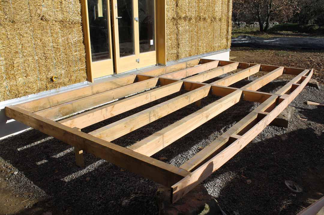 Les Assions - Structure bois terrasse