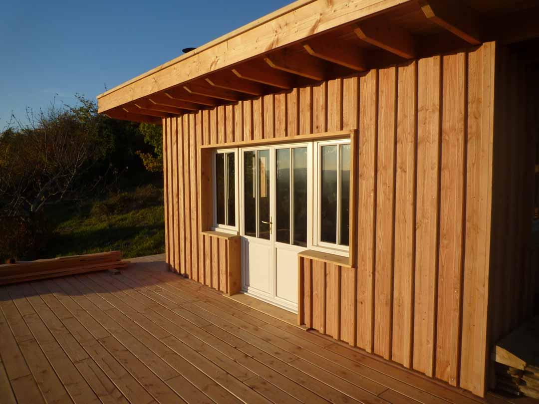 Agen cabane ossature bois toiture v g talis e de - Couvre joint bois ...