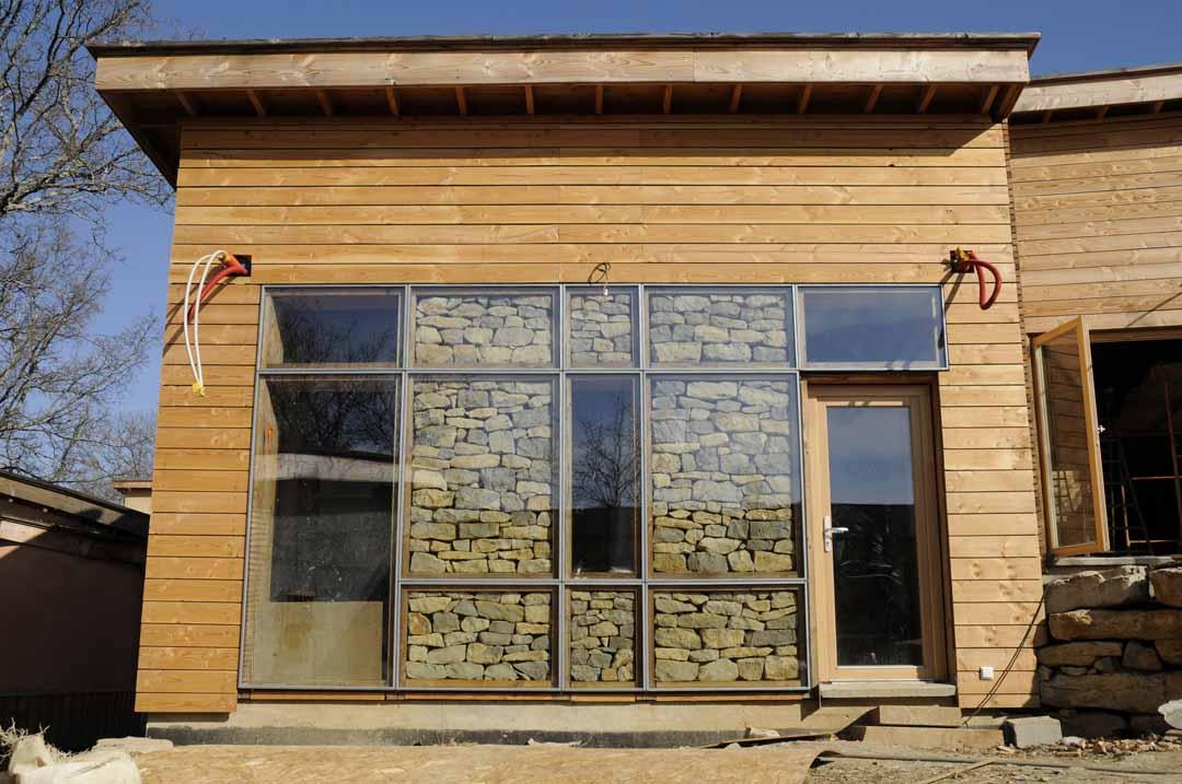 Hameaux des Buis - écoconstruction bois paille pierre