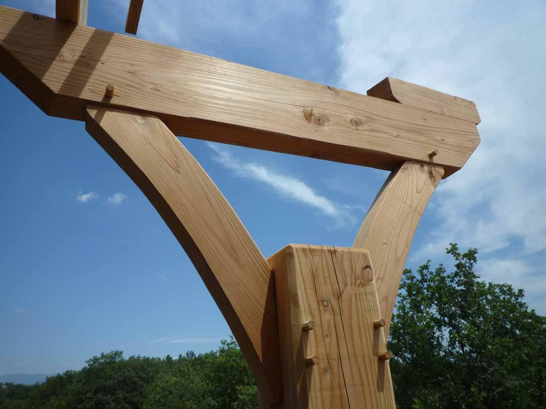 Hameaux des Buis - Ossature bois terrasse