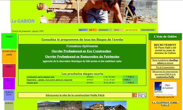 Page accueil site Le Gabion