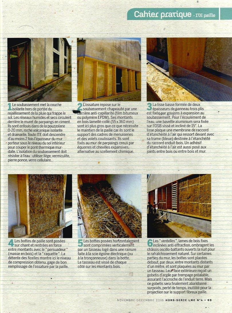 La Maison écologique - article isoler en bottes de paille par l'extérieur - p2