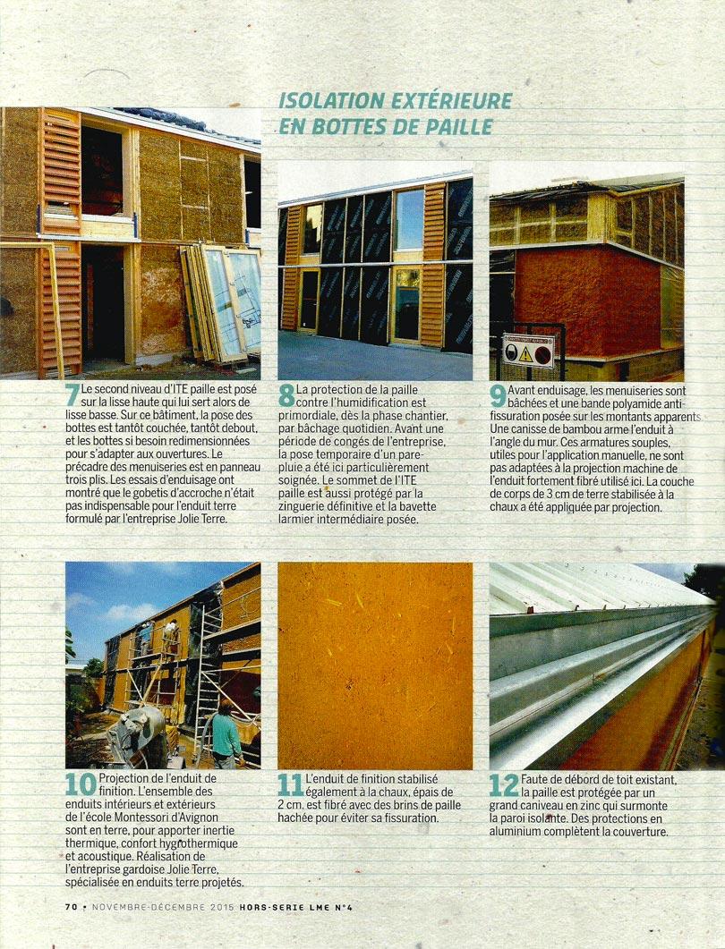 La Maison écologique - article isoler en bottes de paille par l'extérieur - p3