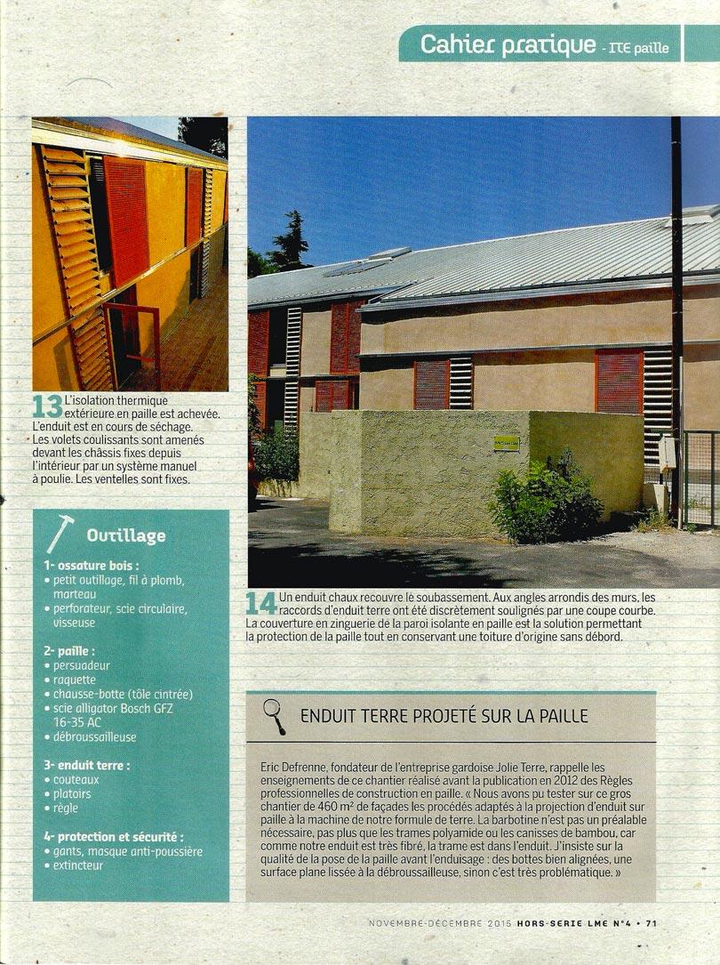 La Maison écologique - article isoler en bottes de paille par l'extérieur - p4