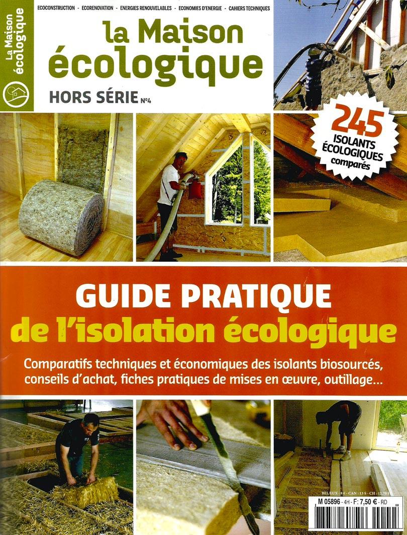 Revue La Maison écologique - Article isolation paille