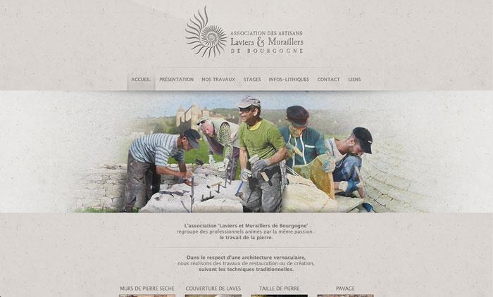 Page accueil site Laviers et Muraillers de Bourgogne
