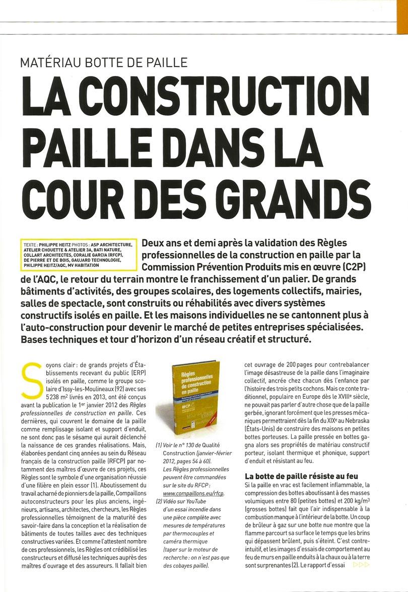 Article - Qualité Construction - La construction paille dans les marchés publics - p2