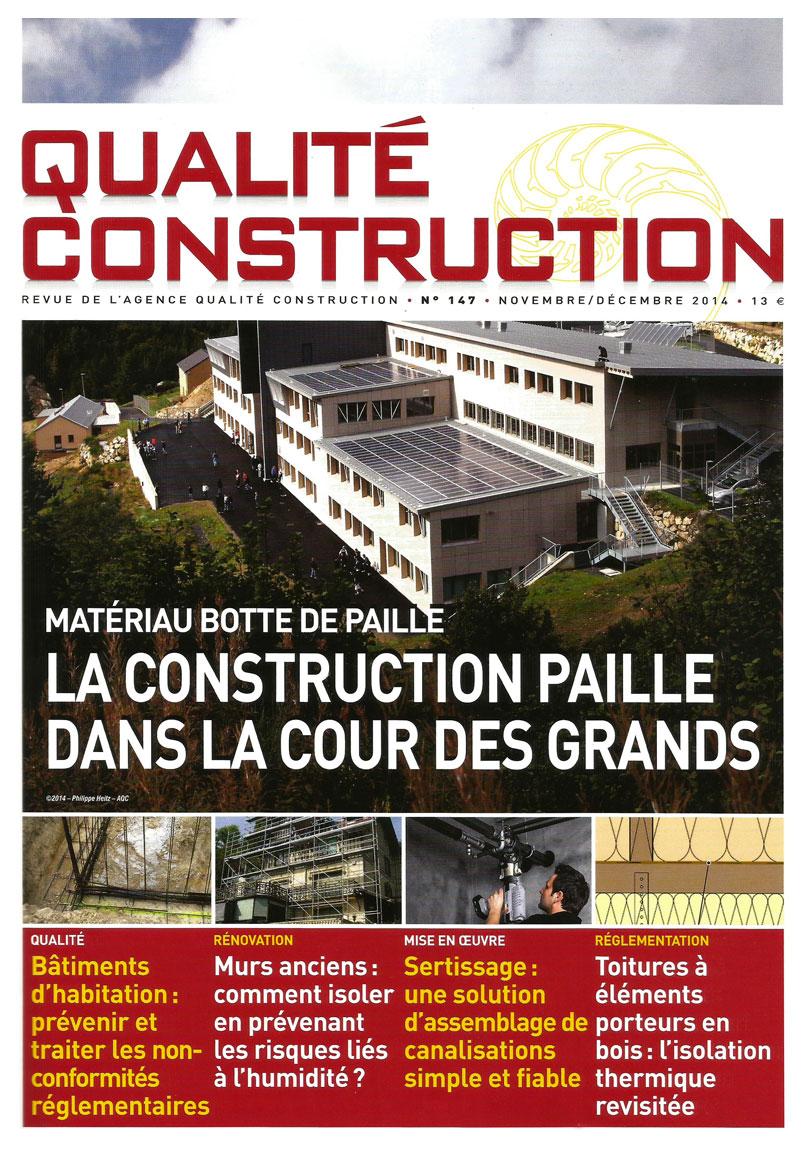 Revue Qualite Construction - Article Construction paille