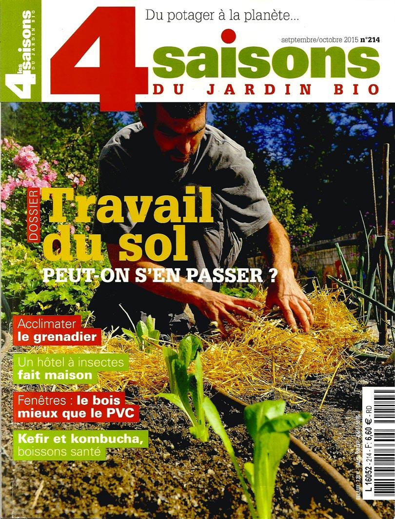 Revue Les 4 saisons du jardin bio - Article