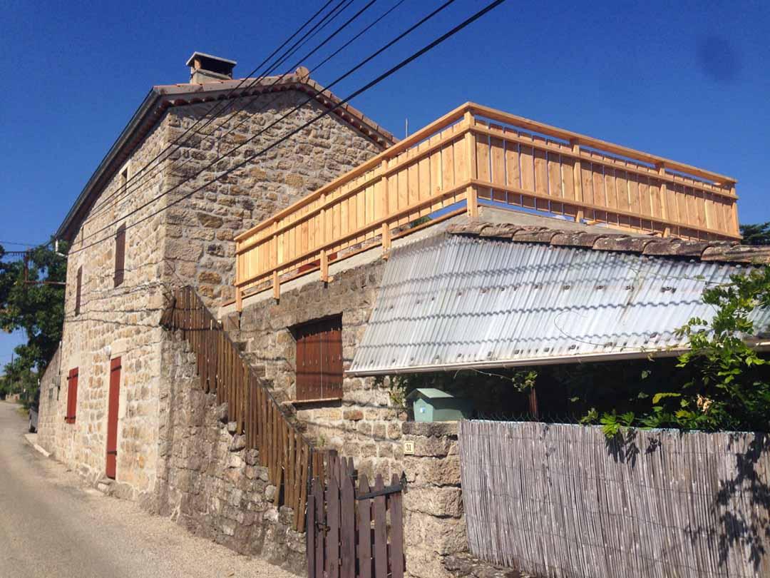 Lablachère - Terrasse bois