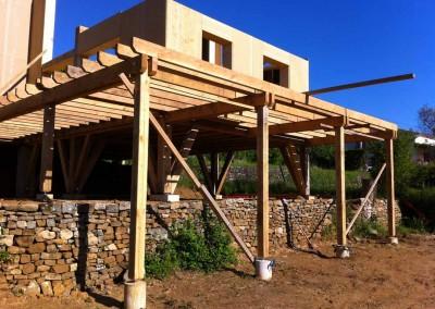 Les Vans terrasse ossature bois