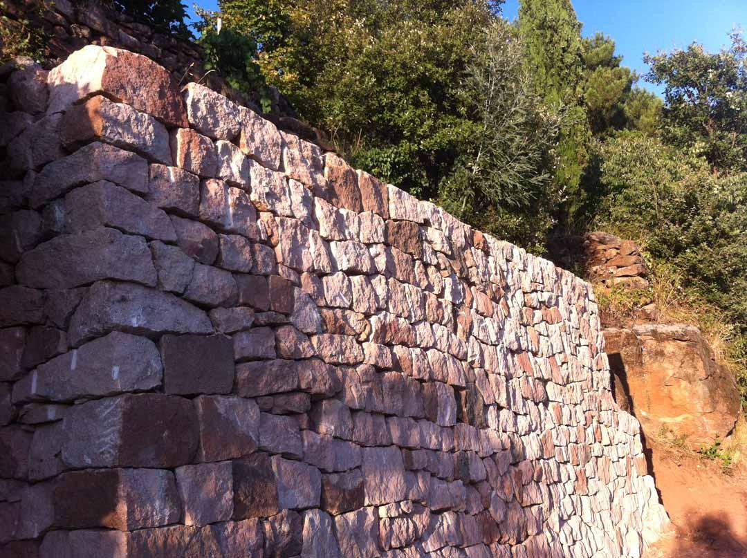 Payzac - Mur en pierre sèche