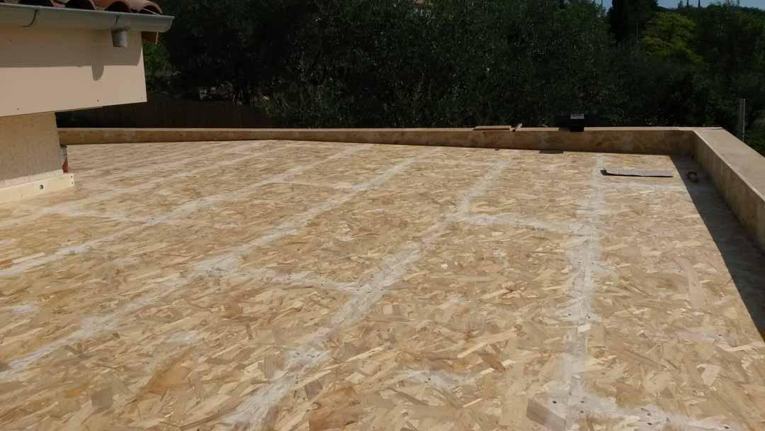 Vinezac extension ossture bois toiture v g talis e de for Extension maison osb