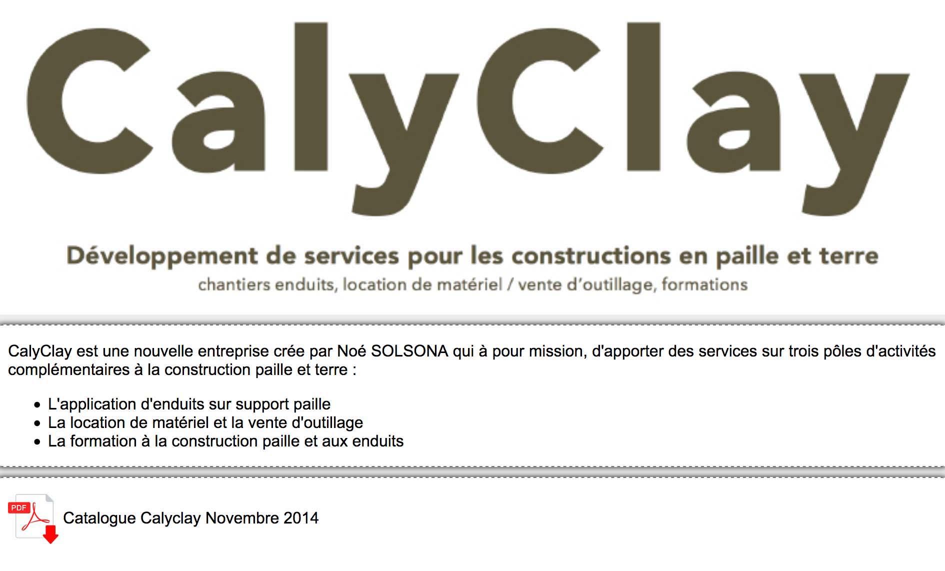 Logo et lien vers le site de Calyclay