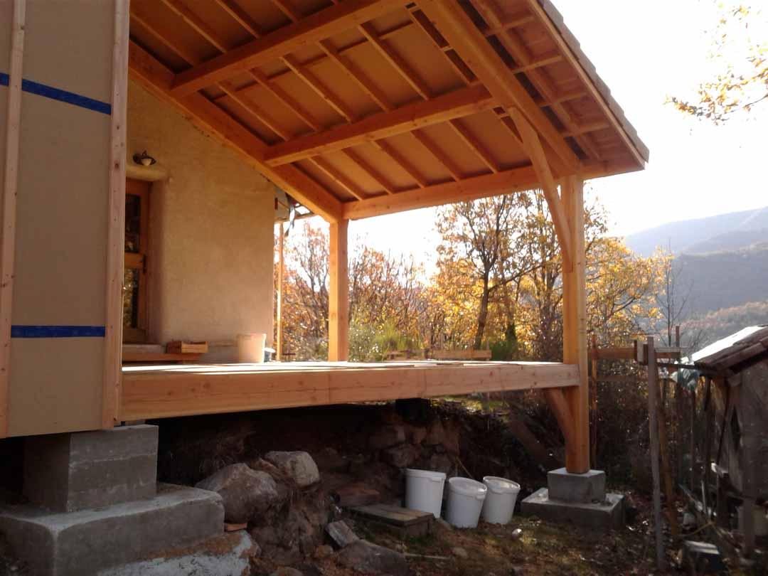 La Souche - ossature bois de l'extension