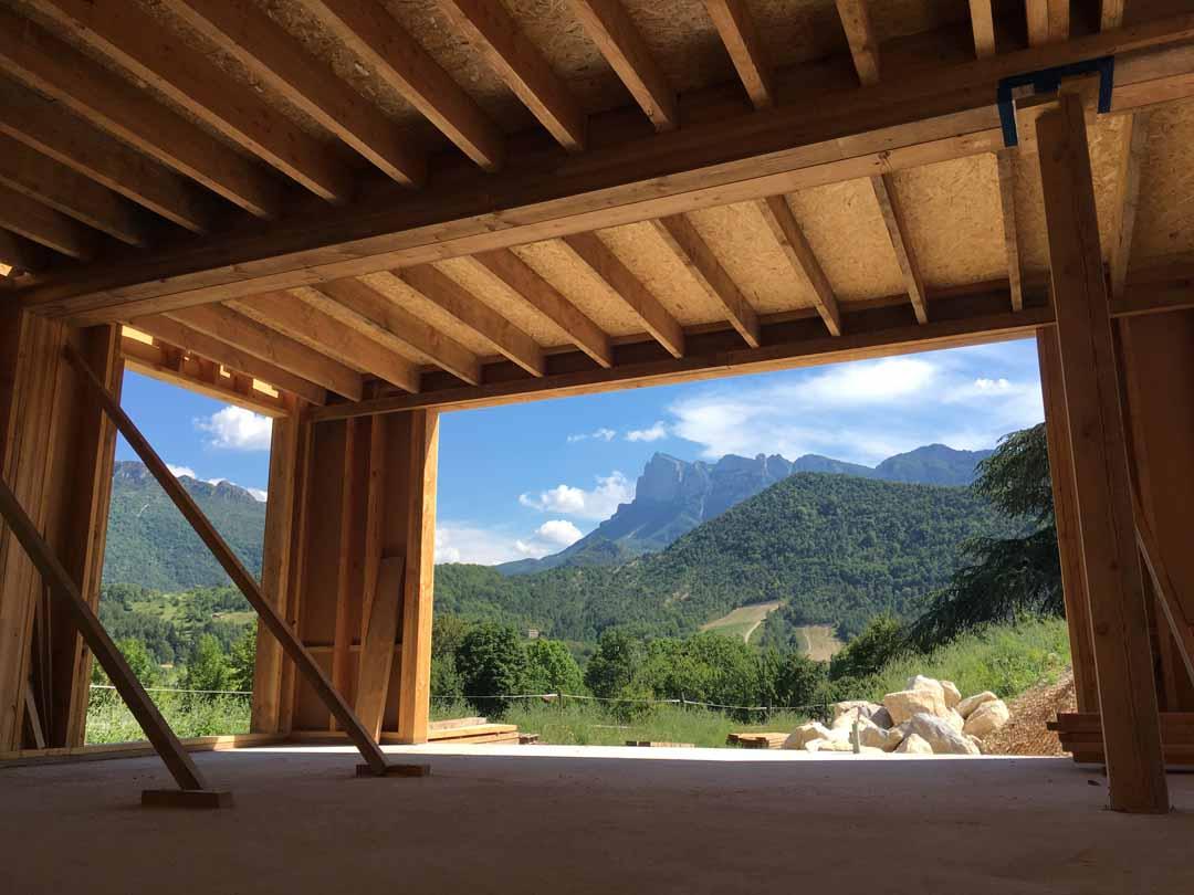 Aubagne : maison ossature bois isolée en paille